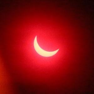 Солнечное затмение в Петербурге 20.03.2015