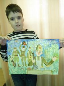 Юные художники о войне