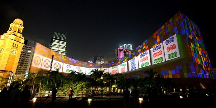 Световое шоу в Гонг Конге
