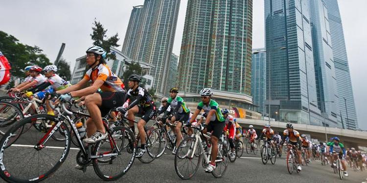 Международный веломарафон в Гонконге