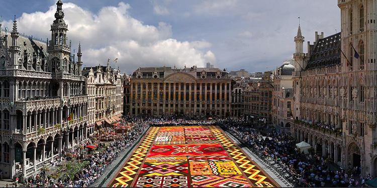 Цветопредставление: ковер из 600 тысяч бегоний