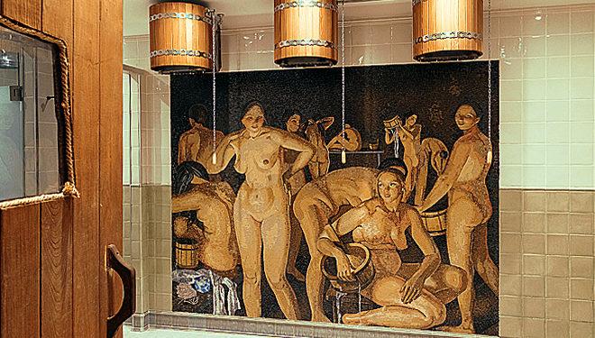 «Баня» русской художницы Зинаиды Серебряковой украшает русскую баню в Лондоне, которую открыл Роберт Прокопе