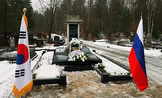 Памятник Ли Бомчжин на Северном кладбище